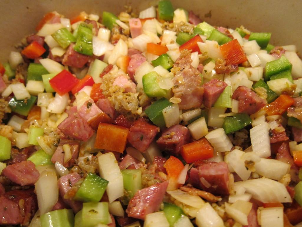 Sunday: Jambalaya, Skillet Corn Bread, Quinoa with Hearts of Palm, and ...