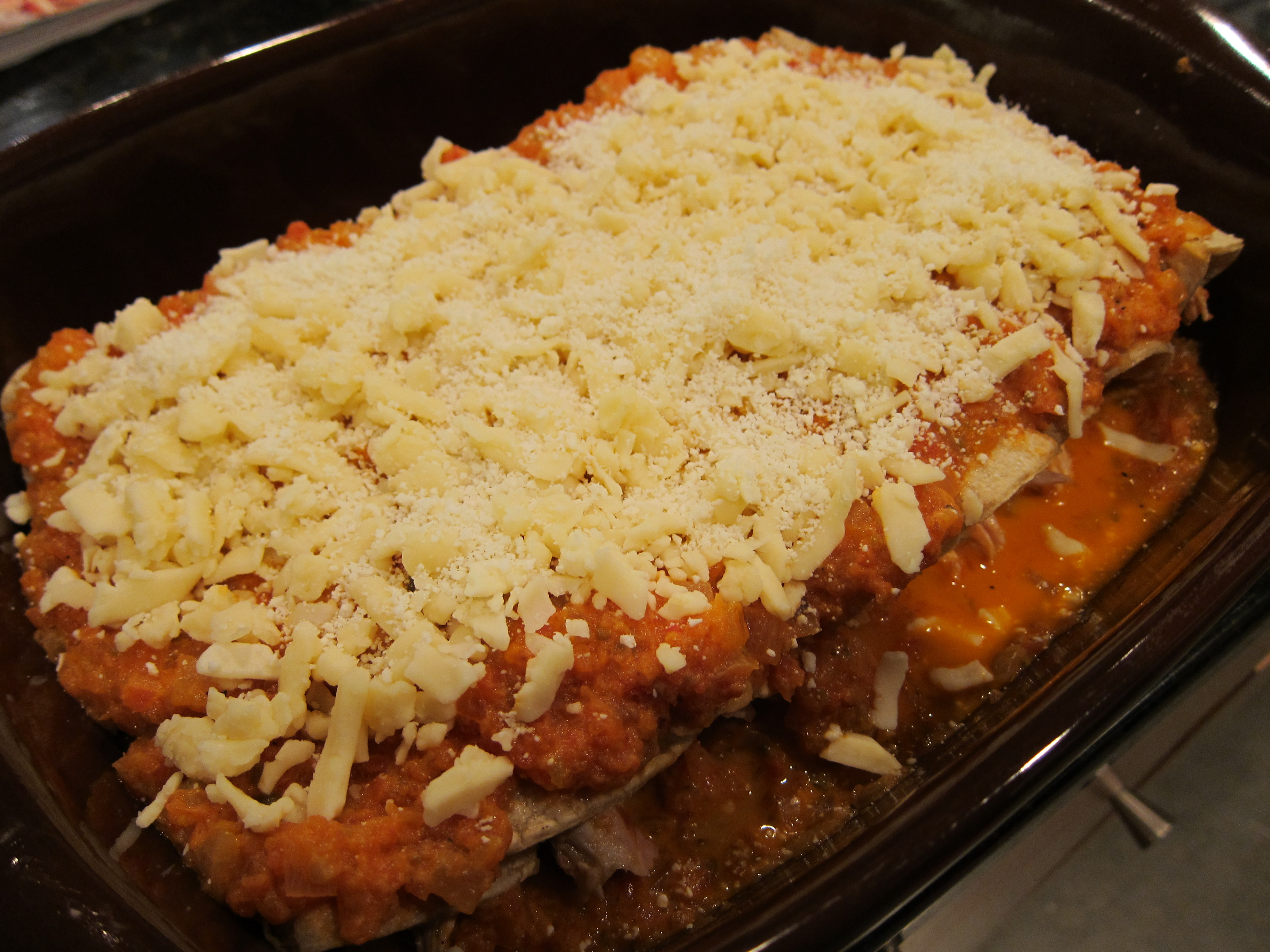 Enchiladas Suizas with MExican cheese