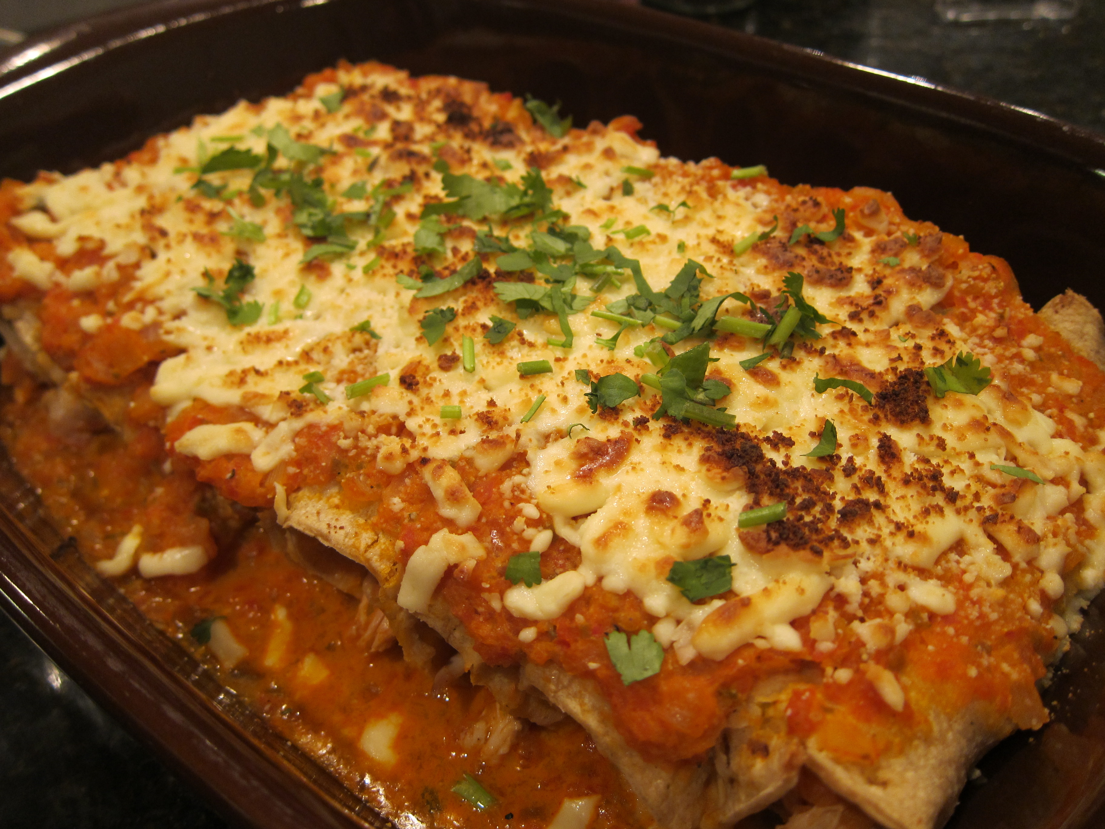 Thursday: Enchiladas Suizas with Chicken, Refried Beans, Mexican Salsa ...