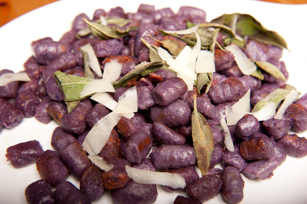 Purple Sweet Potato Gnocchi with Brown Butter and Sage