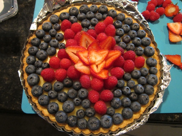 ... Of July Party: White Balsamic Custard Tart with Fresh Berry Topping