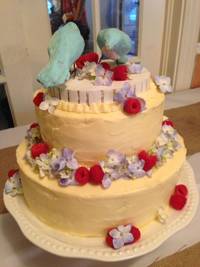 Lemon Raspberry Pistachio Cake