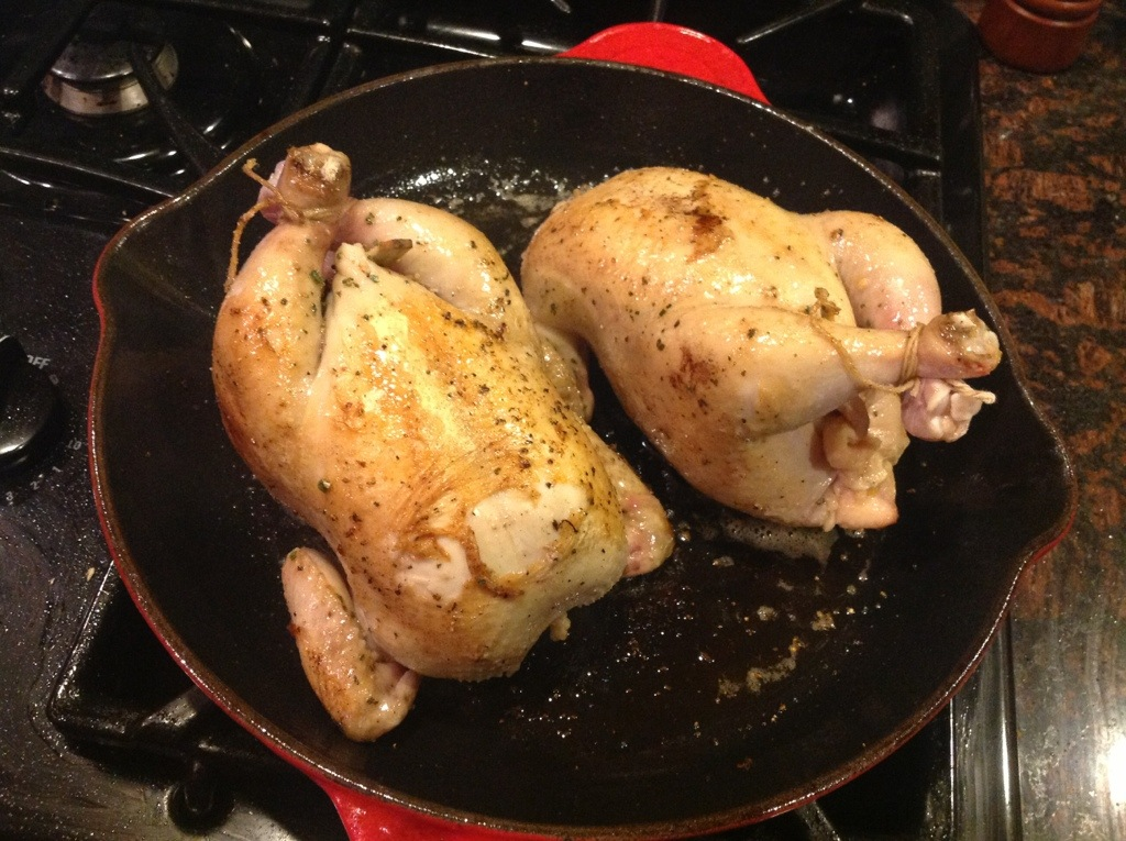 ... Cornbread Stuffed Cornish Game Hens with Corn Maque Choux | Dinner
