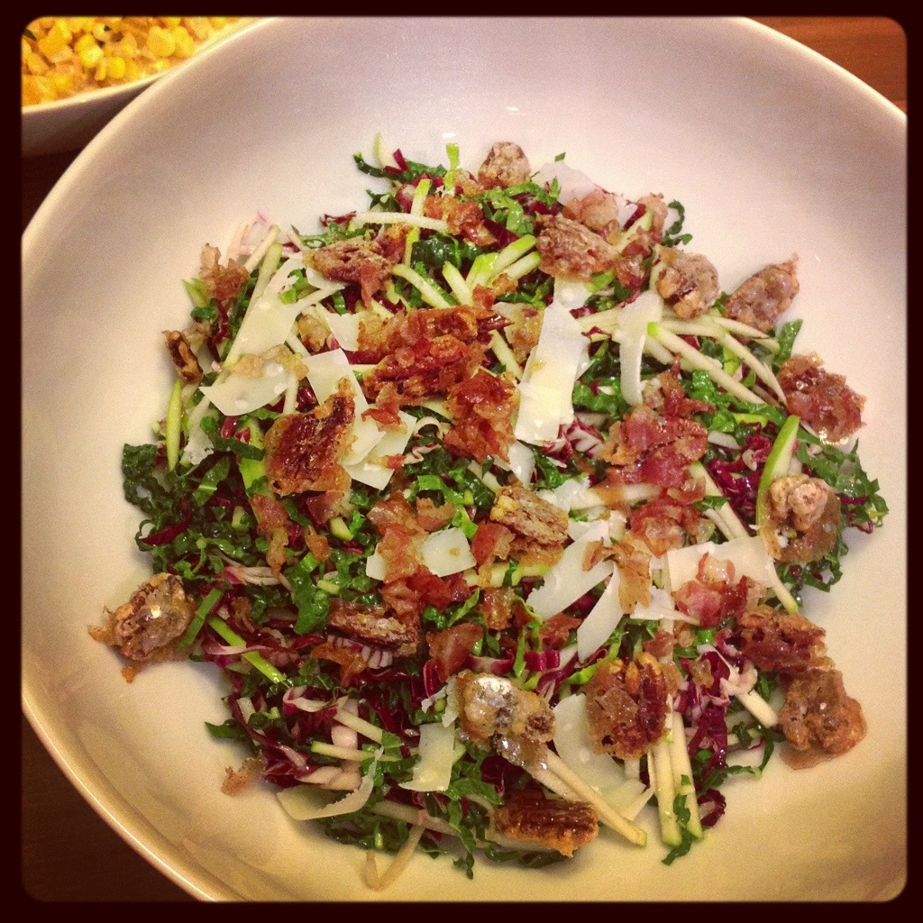 ... for Two: Kale and Apple Salad with Pancetta and Candied Pecans